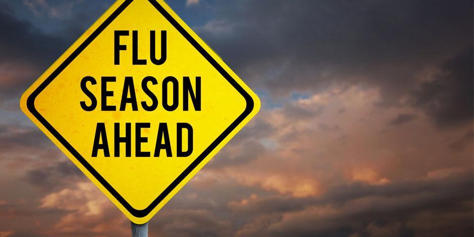 Image of Flue Season Ahead caution sign